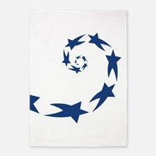 star spiral dk blue 5'x7'Area Rug