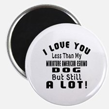 Miniature American Eskimo dog designs Magnet