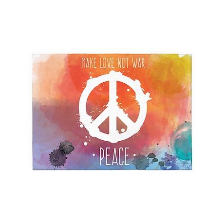 Peace Sign Rugs Area Indoor Outdoor
