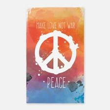 Peace Sign Area Rug