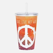 Peace Sign Acrylic Double-wall Tumbler