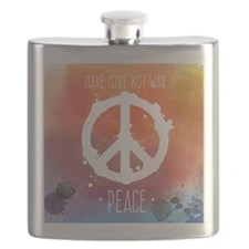 Peace Sign Flask