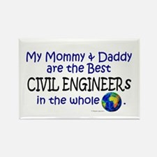 Best Civil Engineers In The World Rectangle Magnet