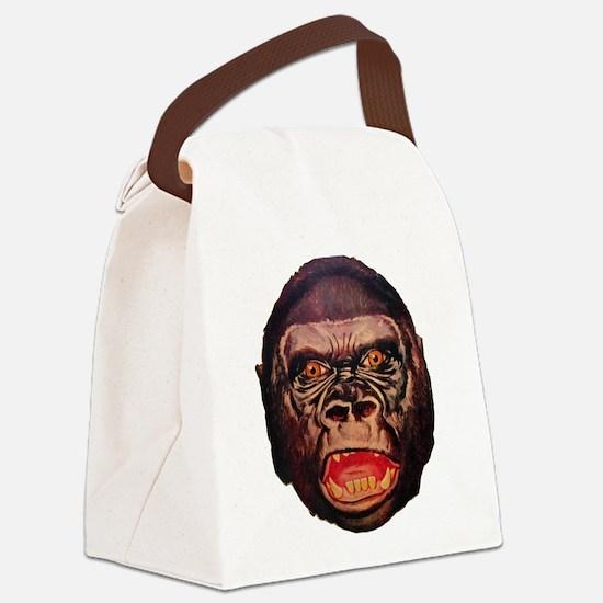 Retro Gorilla Canvas Lunch Bag