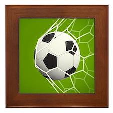 Football Goal Framed Tile