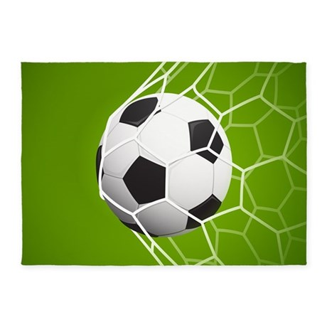 Football Goal 5u0027x7u0027Area Rug