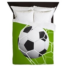 Football Goal Queen Duvet