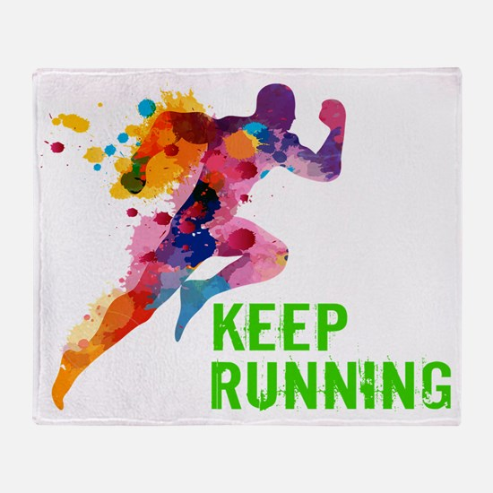 Keep Running Throw Blanket
