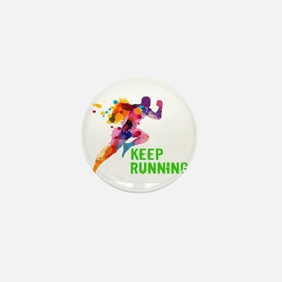 Keep Running Mini Button (10 pack)