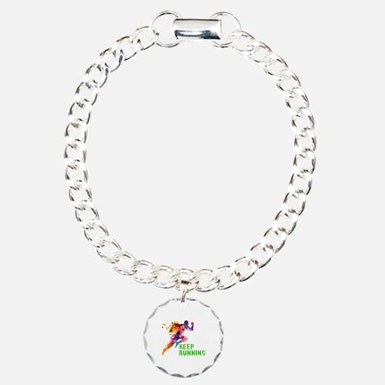 Keep Running Charm Bracelet, One Charm