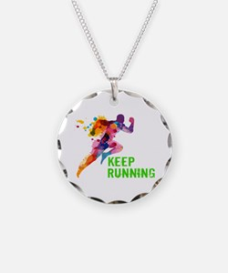 Keep Running Necklace