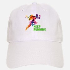Keep Running Baseball Baseball Cap