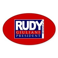 RUDY GIULIANI PRESIDENT 2008 Oval Decal