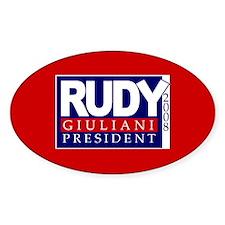 RUDY GIULIANI PRESIDENT 2008 Oval Decal