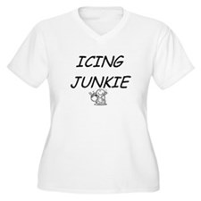 Icing Junkie Plus Size V-Neck T-Shirt