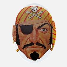 Retro Pirate Oval Ornament