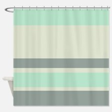 Cute Gray and green Shower Curtain