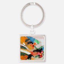 Ina D Abel Square Keychain