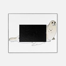 Mom and Baby Harp Seals Picture Frame