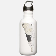 Mom and Baby Harp Seals Water Bottle