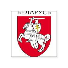 "Unique Belarus Square Sticker 3"" x 3"""