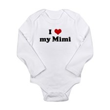 Unique I heart my hawk Long Sleeve Infant Bodysuit