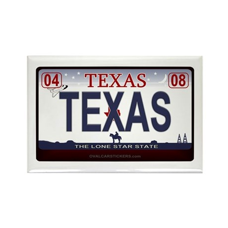Texas License Plate - TEXAS Rectangle Magnet