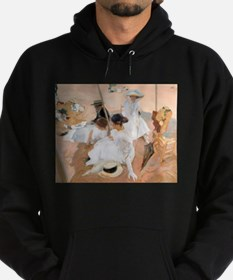Under The Awning, On The Beach at Za Hoodie (dark)