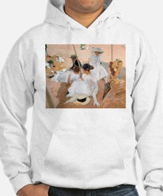 Under The Awning, On The Beach a Hoodie