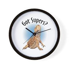 Bearded Dragon Got Supers? Wall Clock