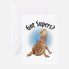Bearded Dragon Got Supers? Greeting Cards (Pk of 2