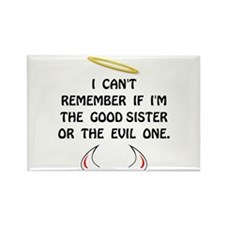 Cute Evil twin Rectangle Magnet