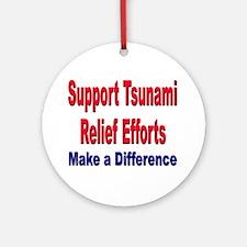 Tsunami Relief Efforts Ornament (Round)
