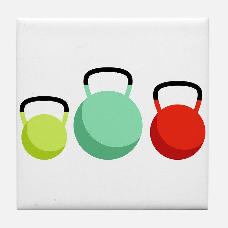 Kettlebells Tile Coaster