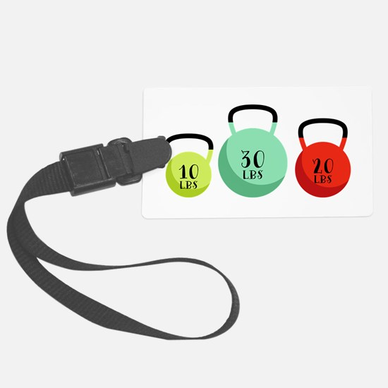 Kettlebell Weights Luggage Tag