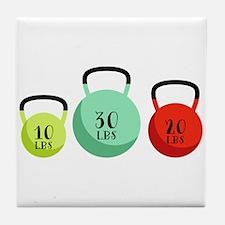 Kettlebell Weights Tile Coaster