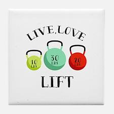 Live Love Lift Tile Coaster