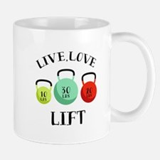 Live Love Lift Mugs
