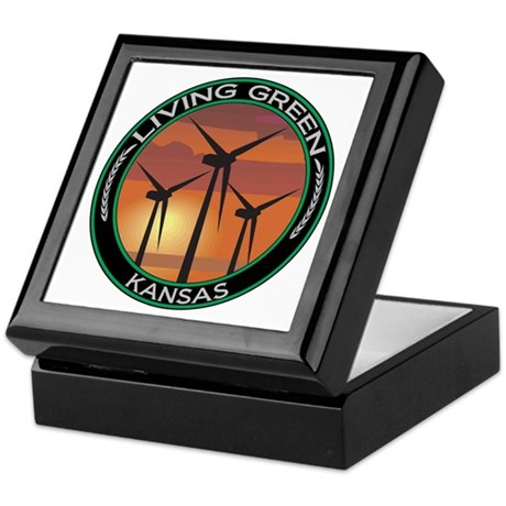Living Green Kansas Wind Power Keepsake Box