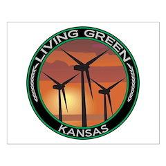 Living Green Kansas Wind Power Posters