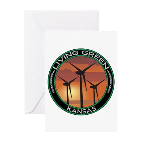 Living Green Kansas Wind Power Greeting Card