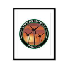Living Green Kansas Wind Power Framed Panel Print