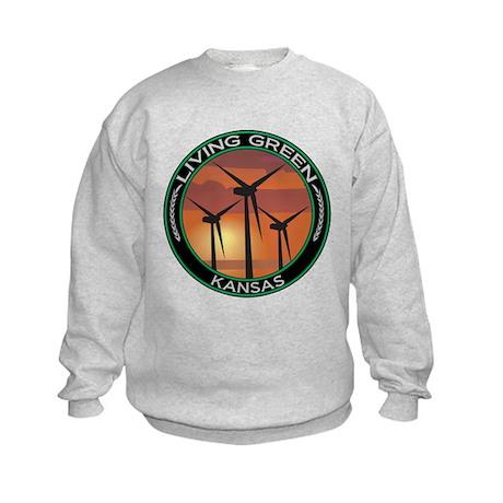 Living Green Kansas Wind Power Kids Sweatshirt