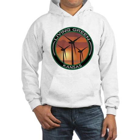 Living Green Kansas Wind Power Hooded Sweatshirt