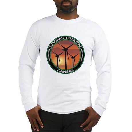 Living Green Kansas Wind Power Long Sleeve T-Shirt