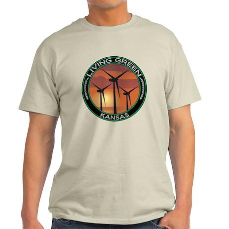 Living Green Kansas Wind Power Light T-Shirt