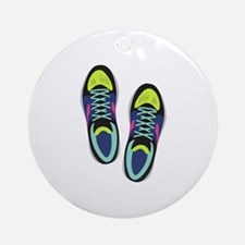Running Shoes Round Ornament