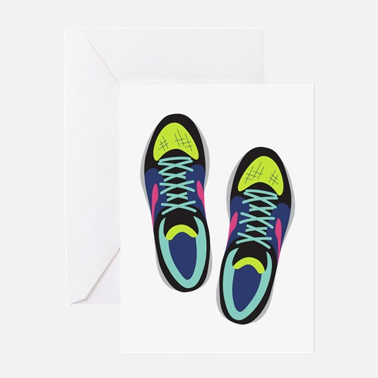 Running Shoes Greeting Cards