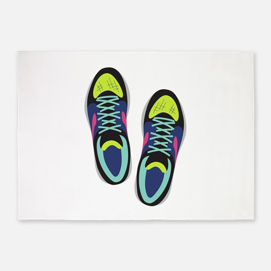 Running Shoes 5'x7'Area Rug
