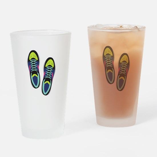 Running Shoes Drinking Glass
